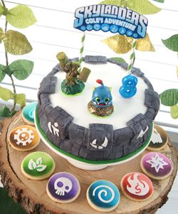Surprising Skylanders Birthday Party Ideas Portal Of Power Cake I Can Do It Funny Birthday Cards Online Inifofree Goldxyz