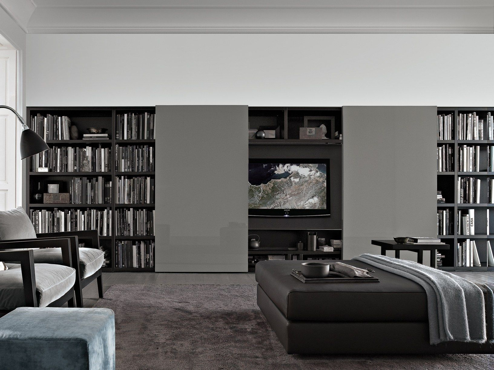 SECTIONAL WOODEN BOOKCASE WALL SYSTEM WALL SYSTEM COLLECTION BY ...