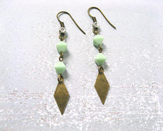 Cactus earrings by flockandhive - jewelry