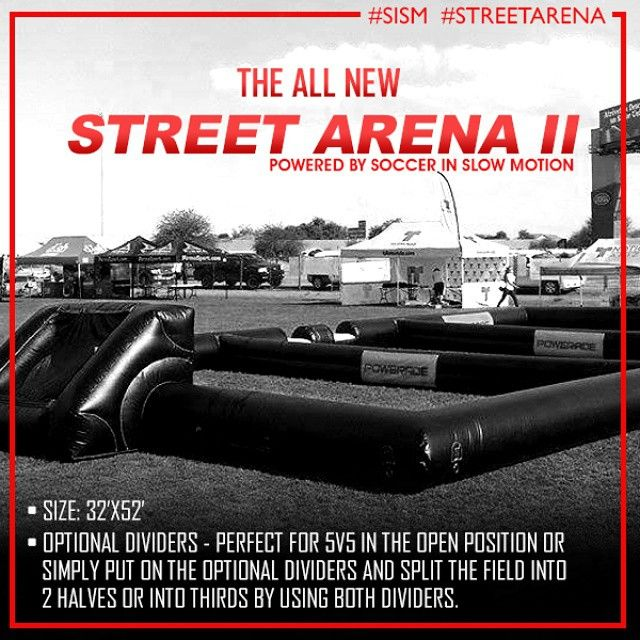 Anthony Mata On Instagram The All New Street Arena Ii The Newest Sism Inflatable Soccer Field Is The Stre Street Soccer Basketball Court Size Soccer Match