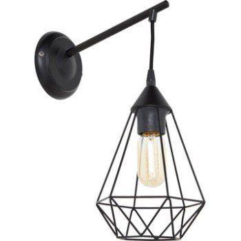 applique industriel e27 byron m tal noir 1 inspire. Black Bedroom Furniture Sets. Home Design Ideas