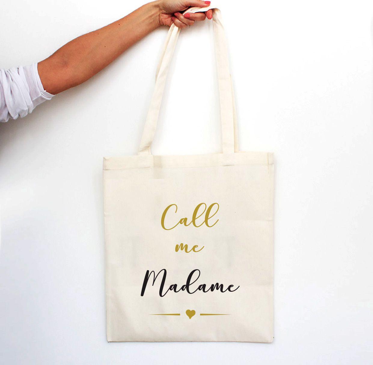 "Tote bag ""Call me Madame"" CLASSIC truc Pinterest"