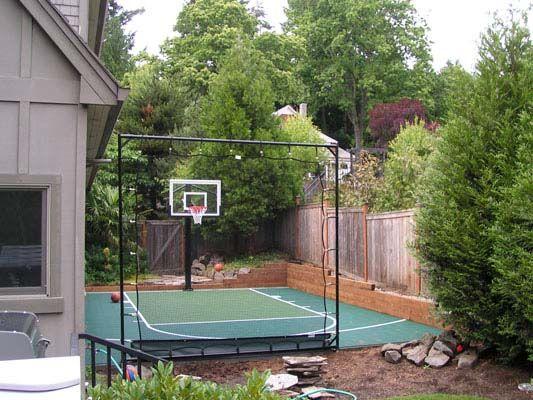 Backyard Basketball Court 48 | Basketball court backyard ...