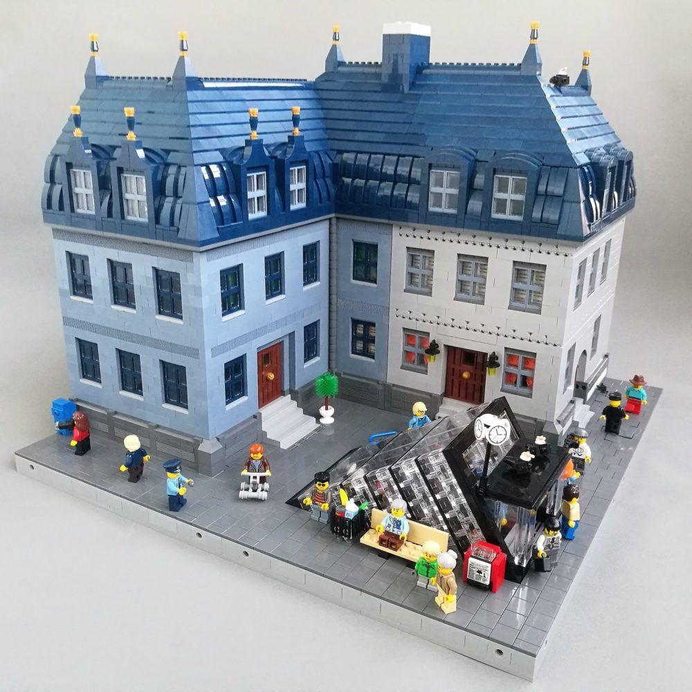 Dieses LEGO Wohnhaus Ensemble lädt ein zur Zeitreise ...