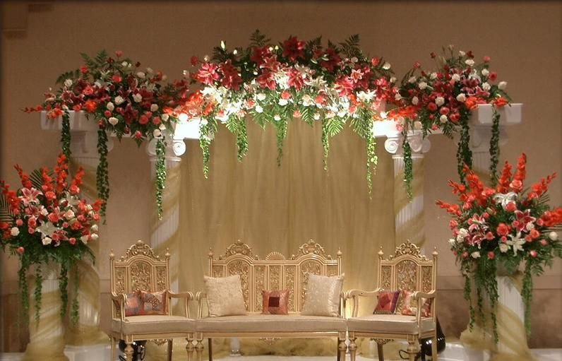 Muslim wedding decorations 27200 2014 for Arab wedding stage decoration