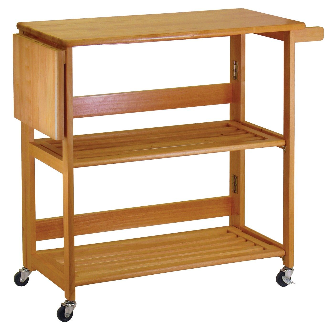34137 kitchen cart foldable in light oak