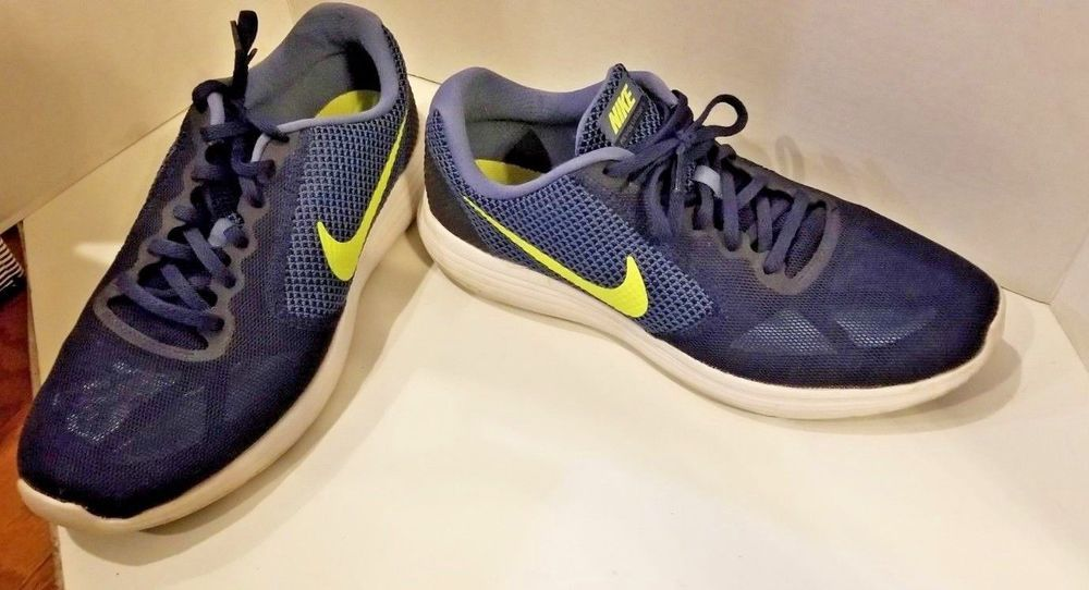 official photos c4d62 004f1 Nike Dualtone Racer Mens Midnight Navy Mesh Running Shoes 11 Lime Neon  Green  Nike  RunningShoes