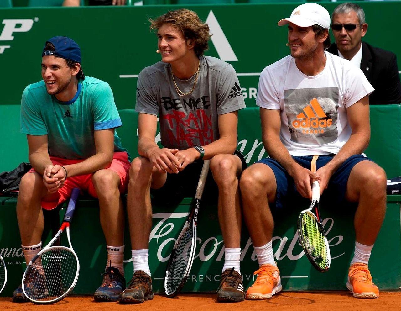 Dominic Thiem Sasha Zverev And Mischa Zverev Soccer Tennis Tennis Players Sports Stars
