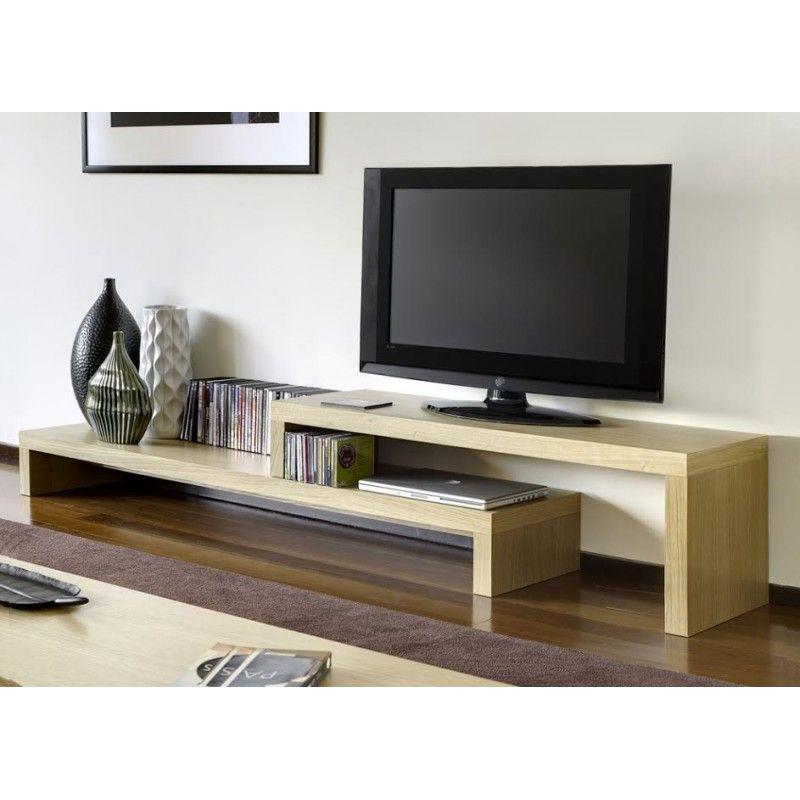 Mueble de tv modelo barcelona de madera viva nuestros for Modelos de muebles para tv modernos