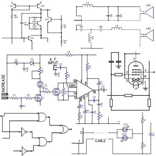 Electronic Circuits, diagrams, software, tutorials