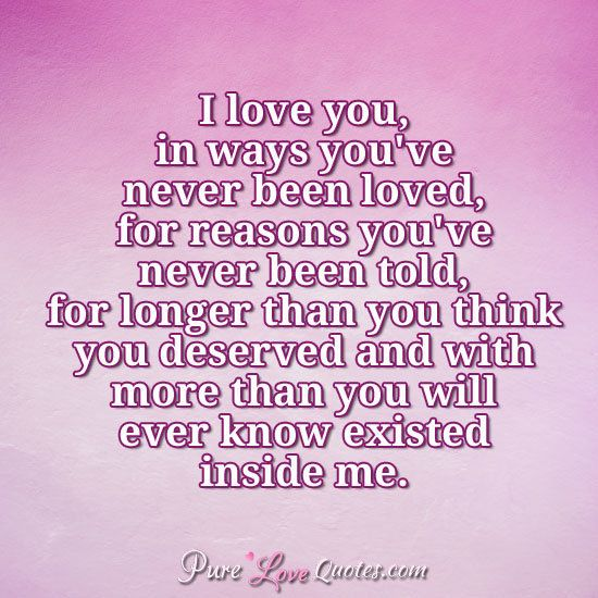 I Love You More Than Quotes: Love Quotes From PureLoveQuotes.com