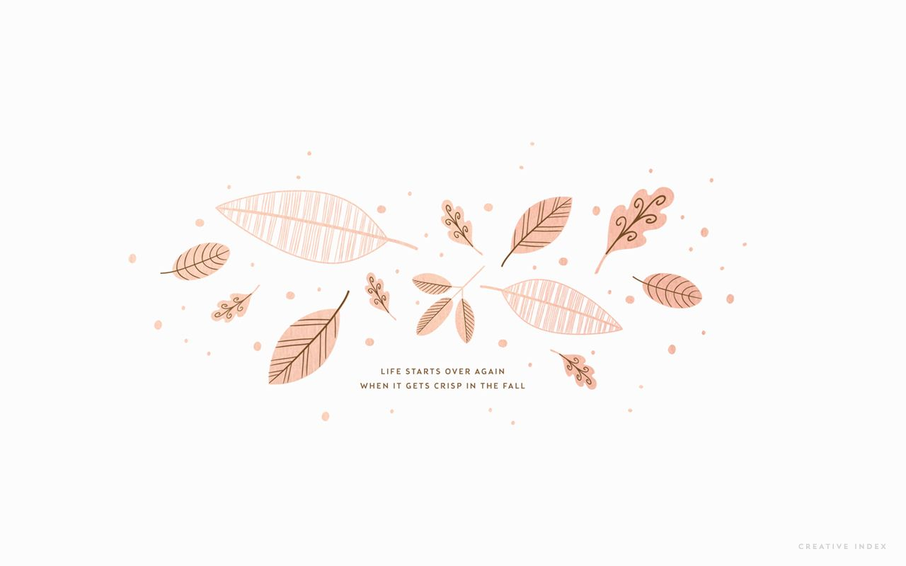 Rose Gold Leaves Fall Wallpaper Desktop Wallpaper Fall Aesthetic Desktop Wallpaper