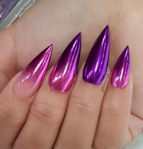 25 nice purple crome nails ideas for 2019  fashion 2d