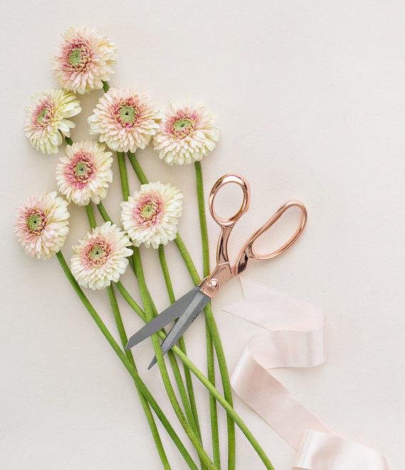 Rose Gold Scissors Rose Quartz by HautePapier on Etsy