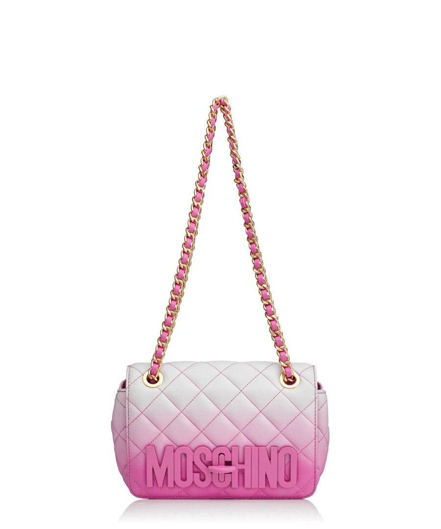 7923aad10d Pink   white leather small bag Sale - Moschino
