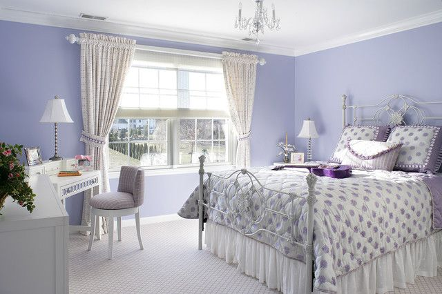 Bedroom Color Ideas For Contemporary Room Concept Eclectic Purple