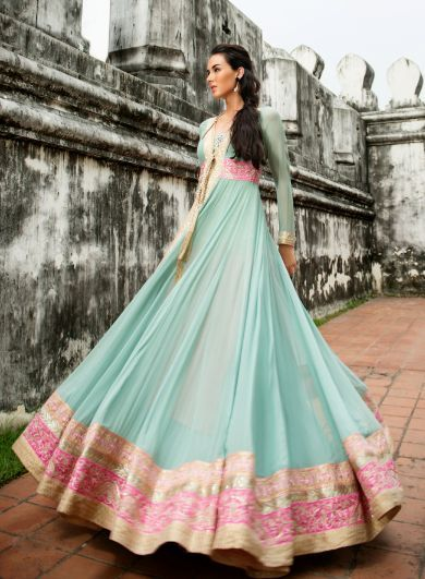 Long anarkali frock | Lehenga | Pinterest | Anarkali frock, Long ...