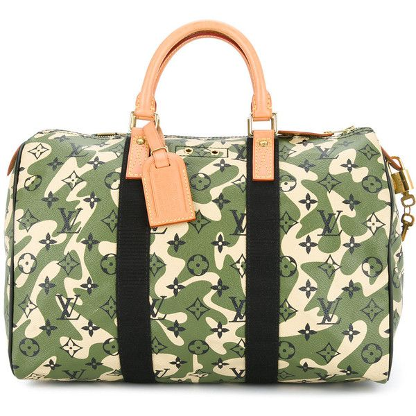Louis Vuitton Vintage Sdy 35 Army Print Bag 13 221 Liked On Polyvore Featuring Bags Handbags Pattern Purse