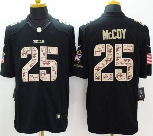 cheap for discount abe1a 77282 Nike Bills  25 LeSean McCoy Black Men s Stitched NFL Limited Salute to Service  Jersey