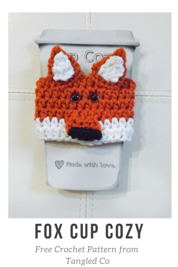 Fox Cup Cozy – Free Crochet Pattern – Tangled Co | costura =^•x ...