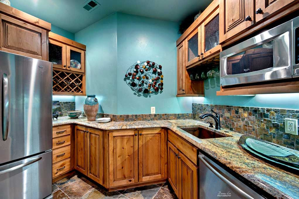 Cabinets Knotty Alder Kitchen Turquoise Paint Teal Kitchen