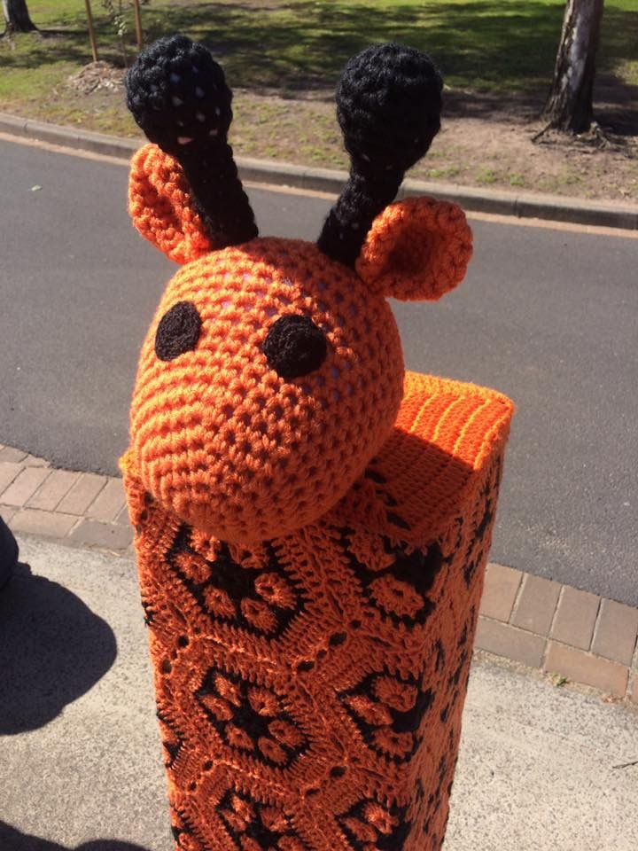 Yarn Bombing at entrance to Melbourne Zoo, Victoria, Australia. Installed 02/09/2016 by the F/b Yard Corner group. (13)