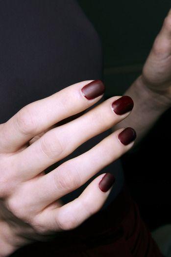 Bordowe Matowe Paznokcie Tagliapietra Manicure Pinterest