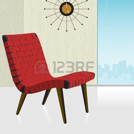 Red chairs rock
