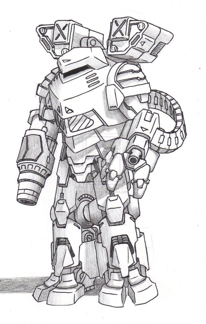 Battletech Elemental Armour Google Search Character Drawing Drawings Fighting Robots