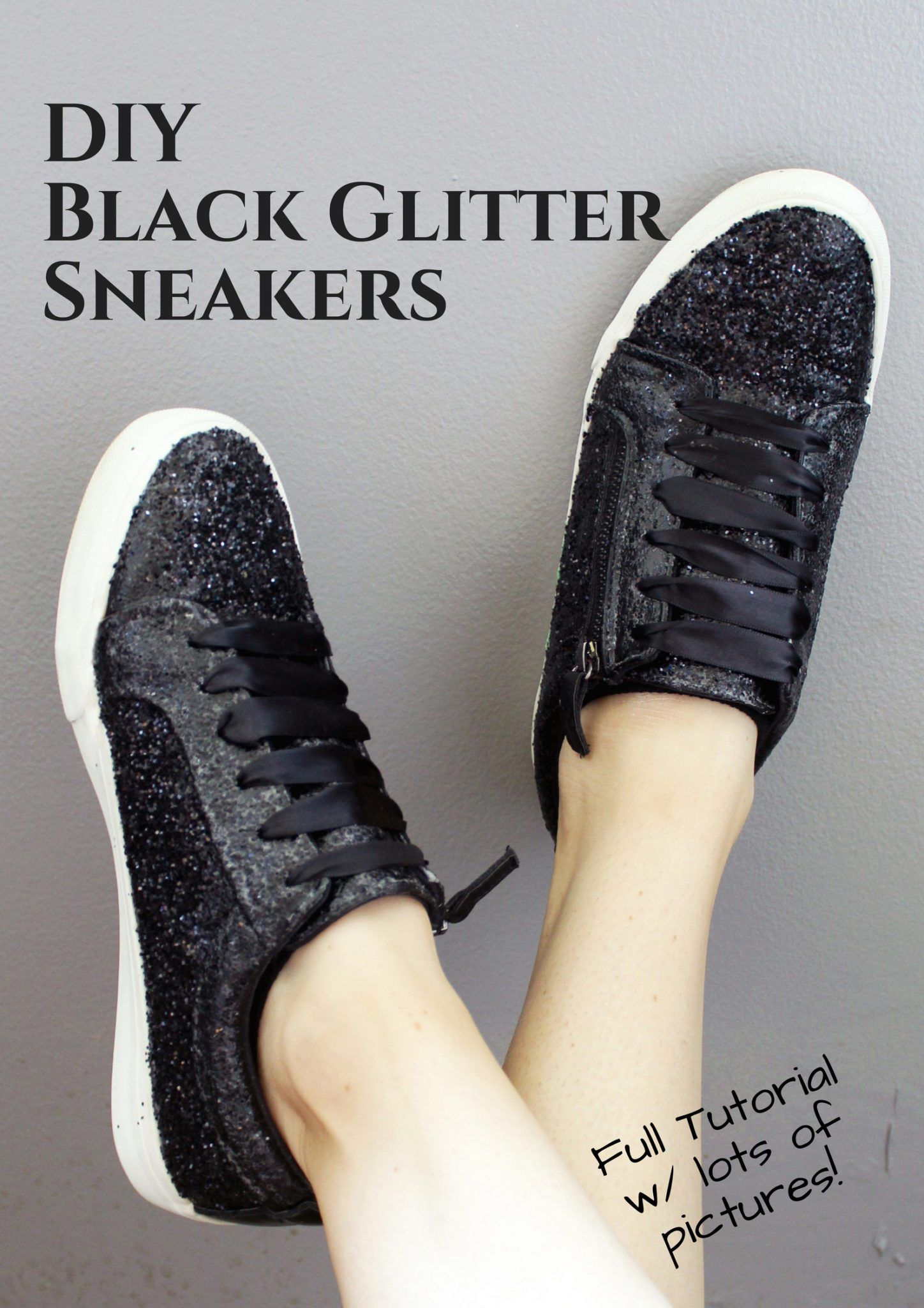 4f2044610c8d DIY Glitter Trainers. The Perfect Fall Transition Piece