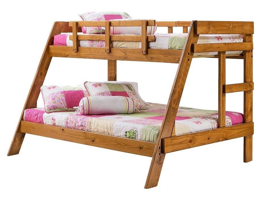woodlands collection honey bunk bed bunk on Slumberland Bunk Beds id=18313