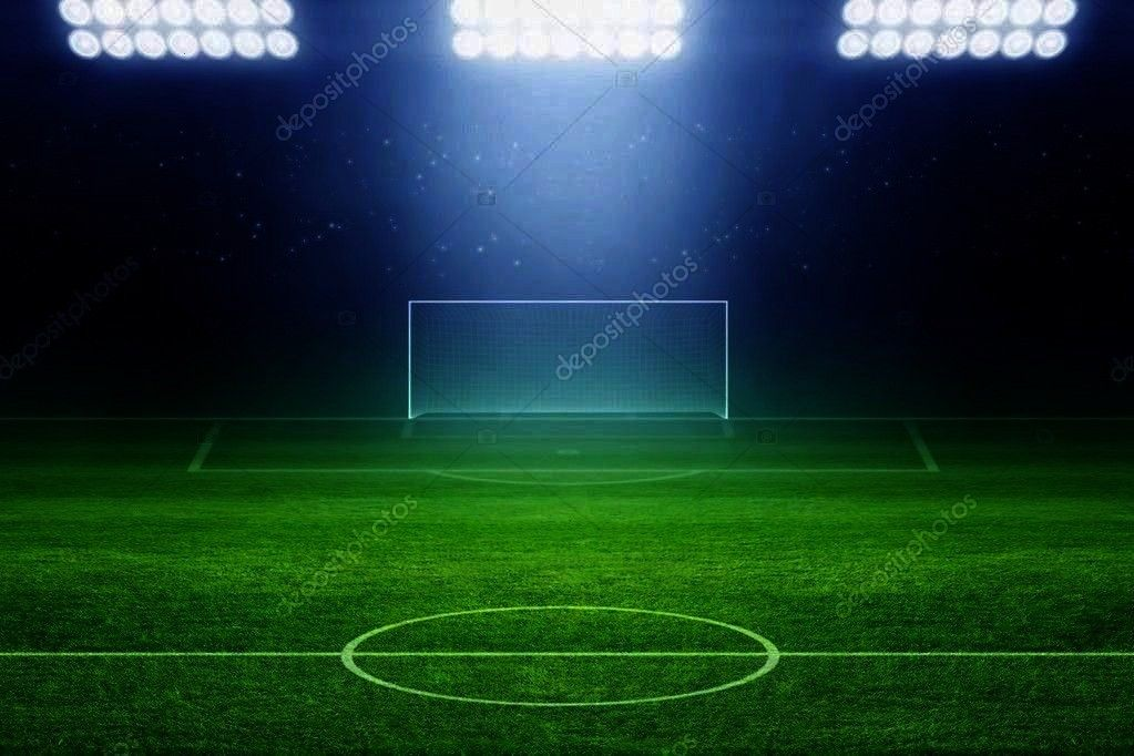 ,Soccer stadium - Stock Photo ,  6328 Soccer Stadium Field Backdrop  Christmas card with neon tree
