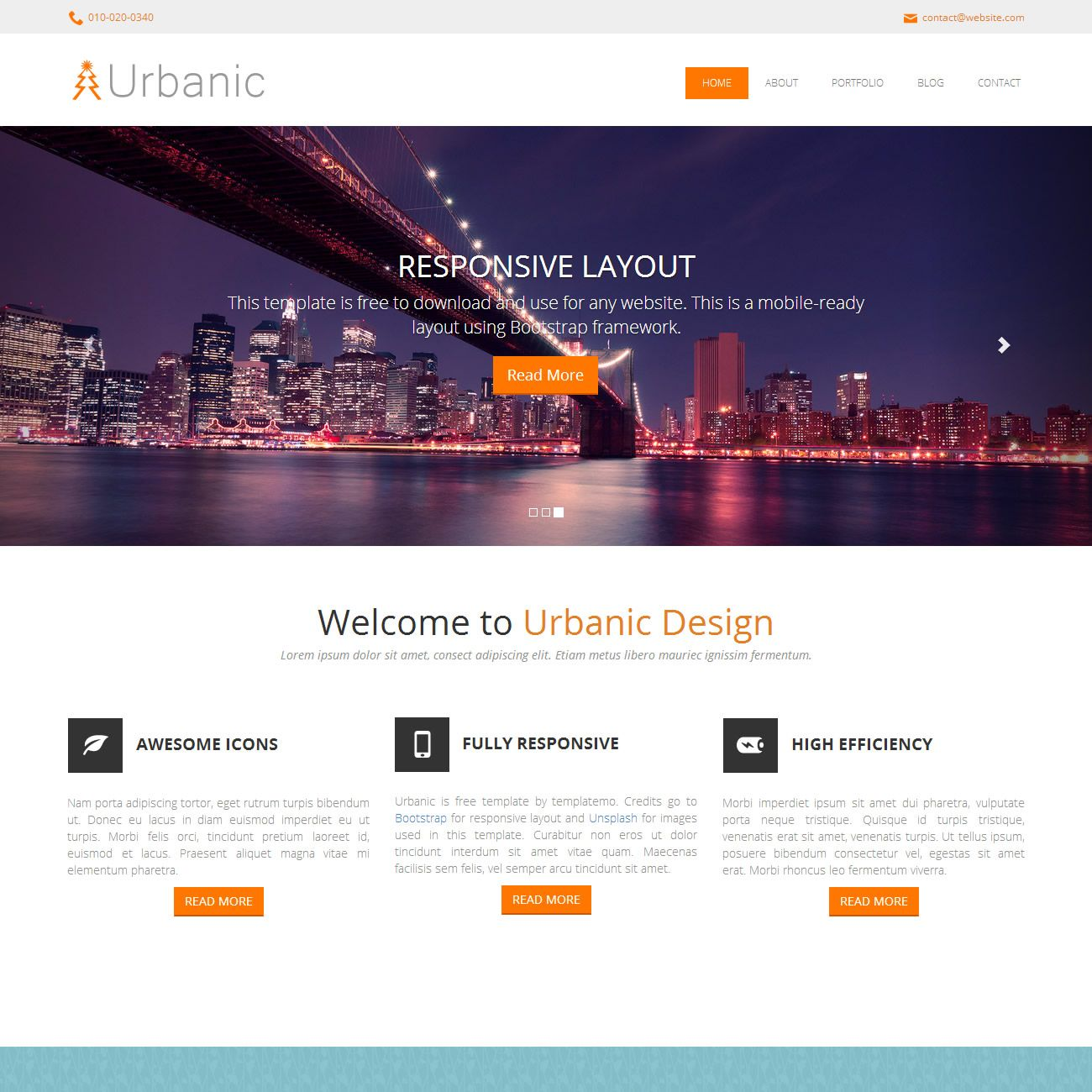 Website Template Urbanic Is Free Html5 Website Template From Templatemothis One