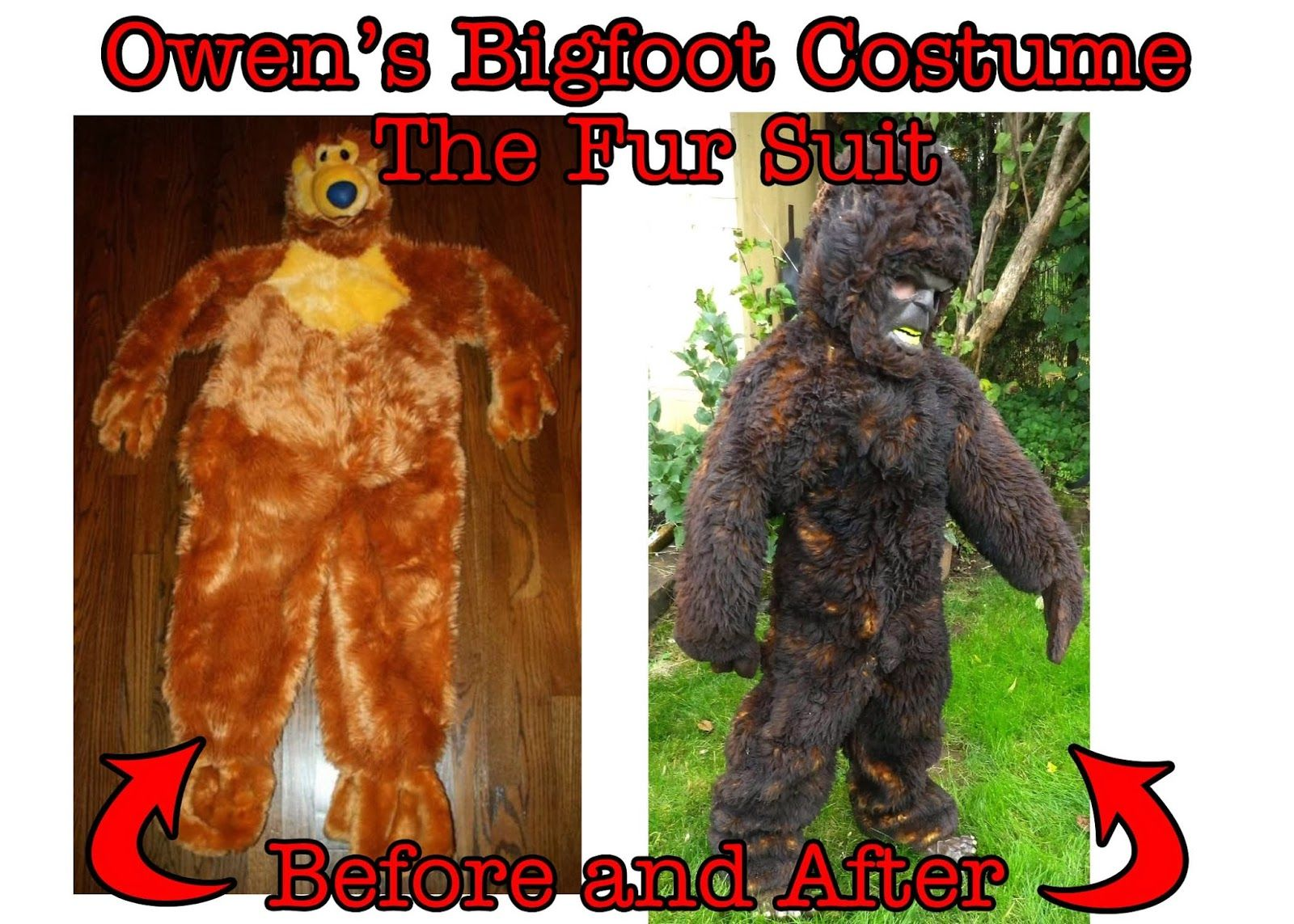 Cards by CG: DIY Bigfoot Costume for a Bigfoot Fanatic!! | fall ...