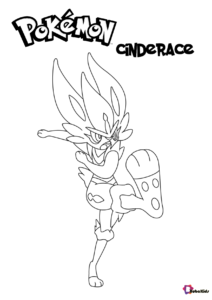 Pokemon Cinderace Coloring Pages In 2020 Coloring Pages Cartoon Coloring Pages Pokemon