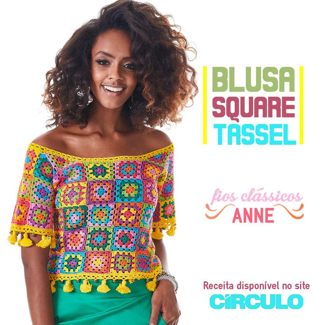 A blusa de square é puro charme e fácil de fazer. Confira a receita clicando na imagem.