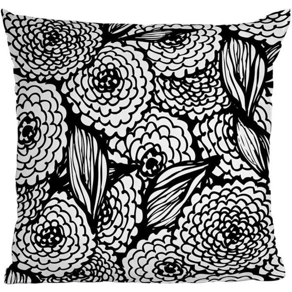 DENY Designs Julia Da Rocha Bouquet Of Flowers Love Throw Pillow ($45) ❤ liked on Polyvore featuring home, home decor, throw pillows, pillows, black and white accent pillows, deny designs, floral throw pillows, graphic throw pillows and flower throw pillow