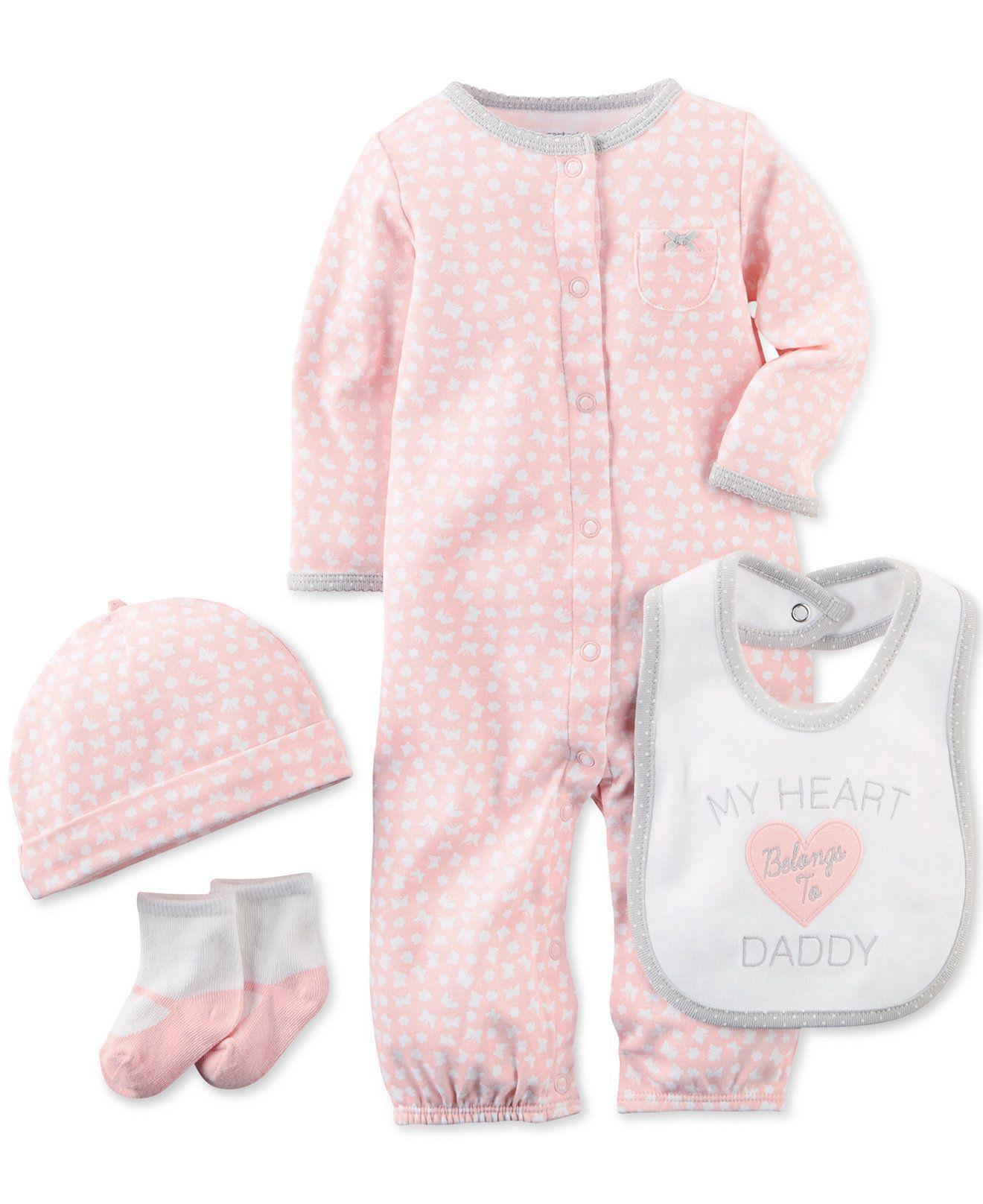 e5ba569bc79e4 Carter s Baby Girls  4-Piece Printed Layette Set - Kids Newborn Shop -  Macy s