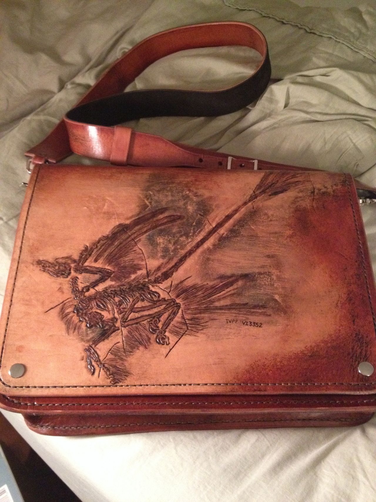 Miskatonic River Valley Leatherworks field bag.
