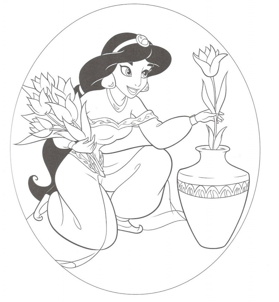 Free Printable Jasmine Coloring Pages For Kids Disney