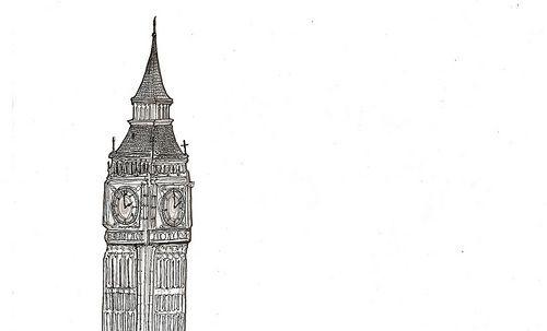 Bigben Tumblr Transparents Art Sketchbook Big Ben
