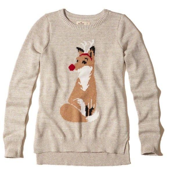 hollister fox sweater