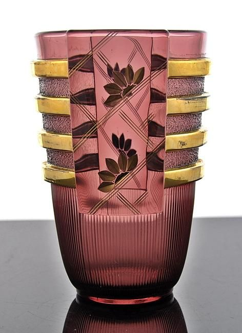 Belgian Art Deco Vase, made by Luxval circa 1935