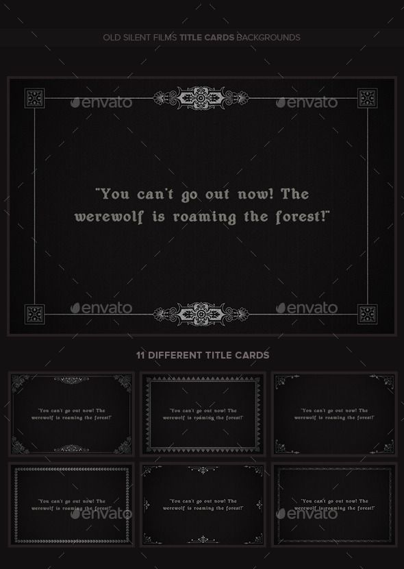 Old Silent Films Title Cards Backgrounds V2 Title Card Silent Film Writing Inspiration