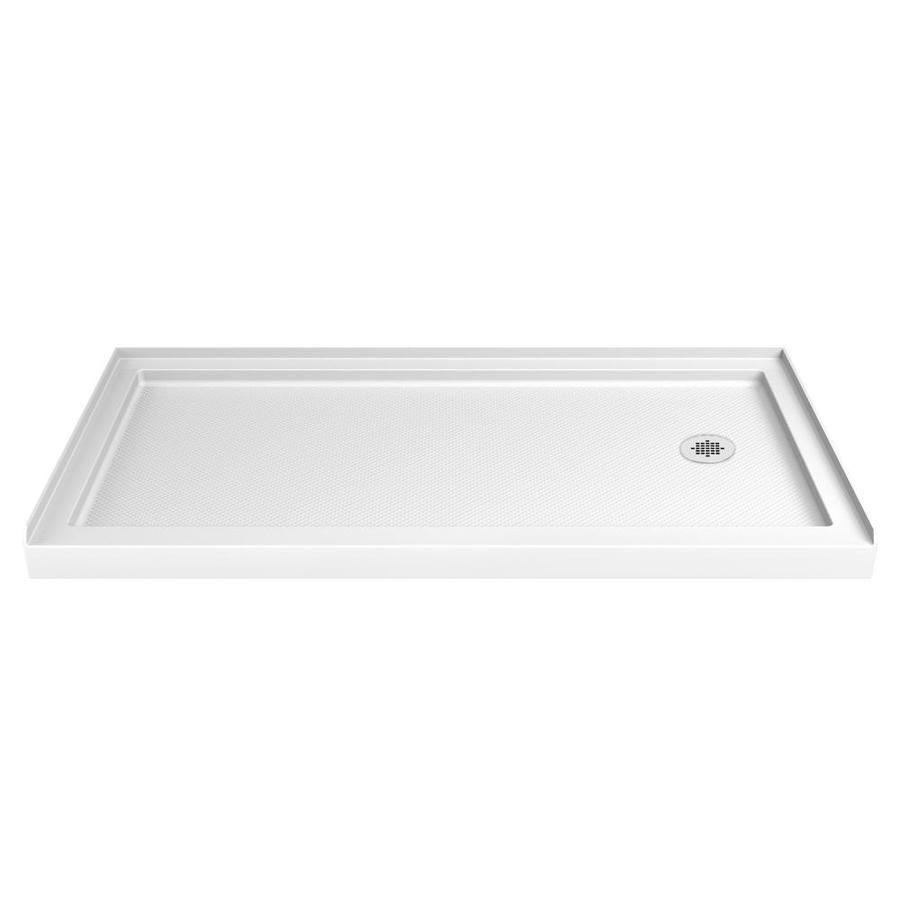 Dreamline Slimline White Acrylic Shower Base Common 30 In W X 60