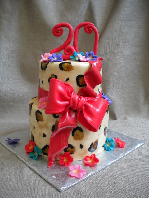 Leopard Print Birthday Cake 20 Birthday Cake 28th Birthday Cake Happy Birthday Cakes