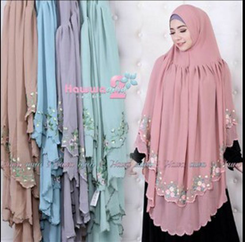 100 New Product High Quality Material Material Material Shava Ceruti Rempel Embroidered Baby Doll Accents Be Baju Hangat Hijab Chic Perlengkapan Hijab