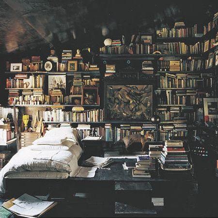 Mystical library teen bedroom design