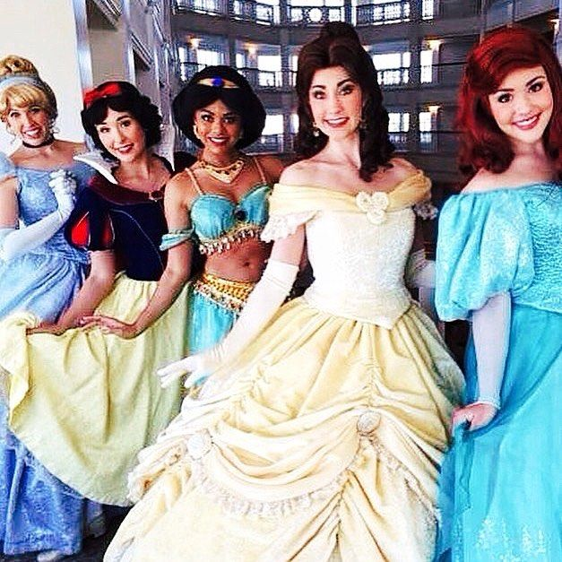 Cinderella Snow White Jasmine Belle and Ariel