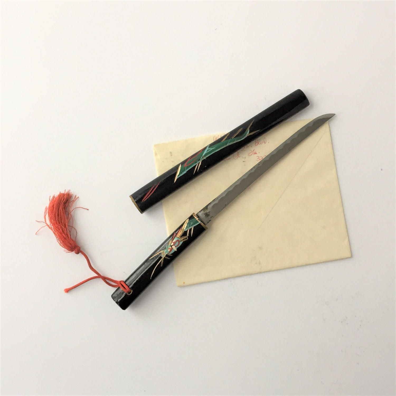 miniature japanese sword vintage letter opener samurai katana